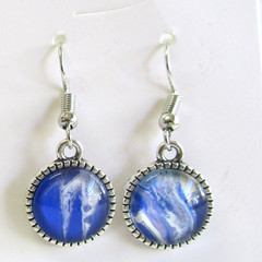 Acrylic Pour Round Drop earrings Set 2
