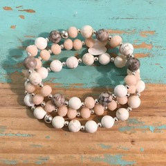 Mixed Stone Bracelet stack