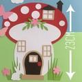 Craft Kit. DIY Mushroom House & fairies. Kids paper craft, home school activity.