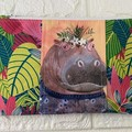 SMALL POUCH - FLORAL PETS - JUNGLE MANIA