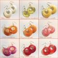 60's Style Resin Hoop Earrings | FREE SHIPPING