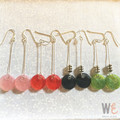Round Disc Resin Drop Earrings       FREE SHIPPING