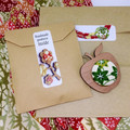 Kimono Tea Cup Brooch - Blue