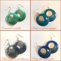 60's Style Resin Hoop Earrings   FREE SHIPPING