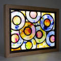 Rainbow Raindrops Stained Glass Wax Painting Light Box