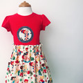 Skirt - Candy Shop - Retro - Cotton - Cream - Red