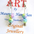 Bead Round Drop earrings Set 1