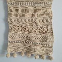 Textured crochet wall art