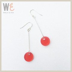 Round Disc Resin Drop Earrings   |   FREE SHIPPING