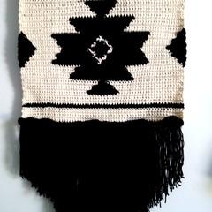 Aztec crochet wall art