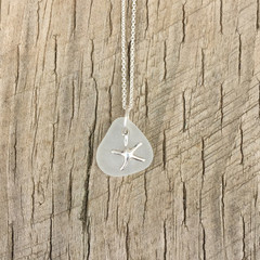 Starfish Shallows Sea Glass Pendant