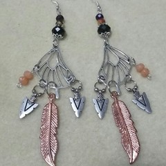 """Butterfly Wing Warrior"" Charm Earrings."