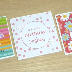 Set 3 Happy Birthday cards