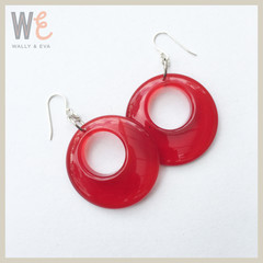 60's Style Resin Hoop Earrings | FREE SHIPPING