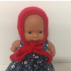 Miniland Dolls Knitted Bonnet to fit 21cm dolls