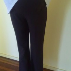 brown crepe trouser with 19cm maternity panel