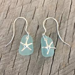 Starfish Shallows Sea Glass Earrings