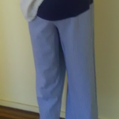 Trousers with maternity panel