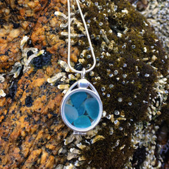 Sea Glass Treasure Locket