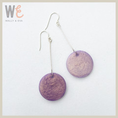 Round Disc Resin Drop Earrings Lg       FREE SHIPPING