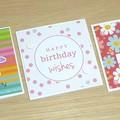 Set 3 Happy Birthday cards