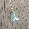 Winter Whale Sea Glass Pendant