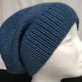 Unisex adult hand knit slouchy-beanie Alpaca-wool Savanna 2/2