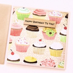 Cupcakes Birthday card | Paper and Wood Accent