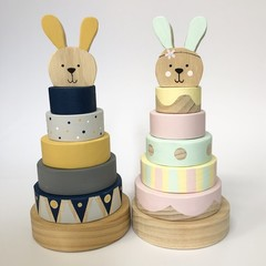 Ring Stacker with Bunny Topper