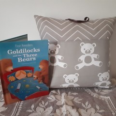 TEDDY BEAR  POCKET  CUSHION (Includes Insert)