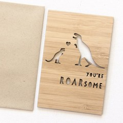 You're Roarsome | Bamboo Card | Thank You, Birthday, Thinking of You, For Him