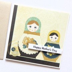 Mothe's Day card | Babushka dolls | Happy Mother's Day