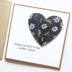 Mother's Day card | Daisies Floral Heart | Mum Oma Nanna Nanny Grandma