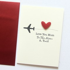 FREE POST | Love You To The Moon & Back | Personalised Card | For Her For Him