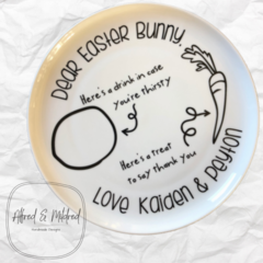 Personalised Easter Plate/ Easter gift/ Easter Decor/