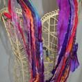 Multi strand yarn scarf/necklace