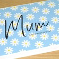 Mothers Day Card  - blue daisy