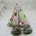 Women's Pyramid Wristlet - Evening, Day, Wedding, Race Day, Party - Blush Floral