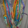 Multi strand yarn scarf/necklace