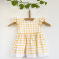 Size 0 Handmade Fluttersleeve with Lace Baby Dress