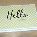 Hello - I miss you card