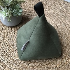 Doorstop JUMBO size 'Hunter Green' suede texture