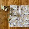 wash cloth - grey cockatoos / organic cotton hemp fleece / zero waste