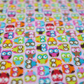 wash cloth - little owls pink / zero waste / organic cotton hemp fleecy