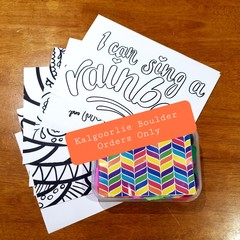 RAINBOW Craft Kit & 10x Colouring/Collage Pages- KALGOORLIE BOULDER ORDERS