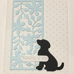 Dog Pet bereavement  Sympathy Card - free post
