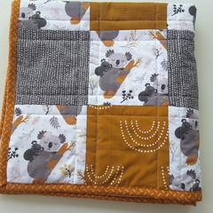 Koala pram quilt, pram blanket, playmat, Australiana  gift