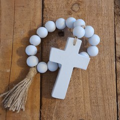 Grey Home Blessing Beads | Farmhouse Decor | Rustic | Hand Crafted