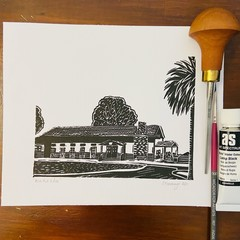 Lord Somers Camp -  Mini Mess Hut - Edition of 100 - Linoprint