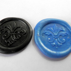 10 Self Adhesive,  Old Fashioned Wax Seals